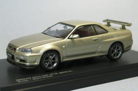 1:43 Kyosho Nissan Skyline GT-R (BNR34) in Silica Brass 03382GL