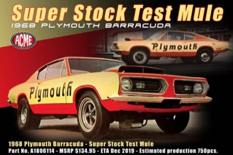 1:18 ACME 1968 Plymouth Barracuda 'Super Stock Test Mule'