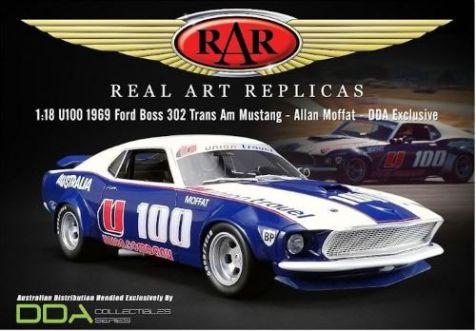 1:18 DDA Allan Moffat #U100 1969 Ford Boss 302 Trans Am Mustang