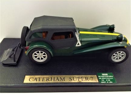 1:18 ANSON - Caterham Super Seven - Green with Yellow Stripe - Item #30317-W