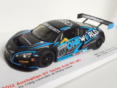 1:18 Apex Replicas 2012 Audi R8 LMS #888 Craig Lowndes Australian GT  *GB*