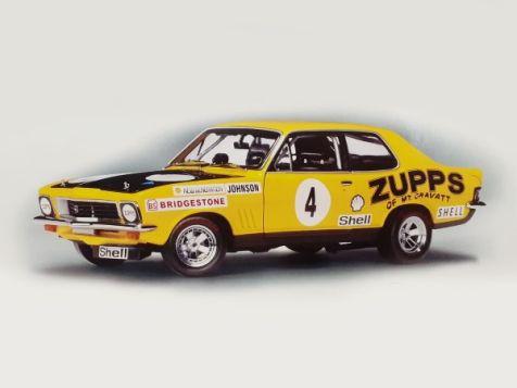 "Autoart 1973 LJ-XU1 Torana Dick Johnson - ""ZUPPS"" Race car # 4 - Car Hand Signed on The Roof By Dick Johnson"