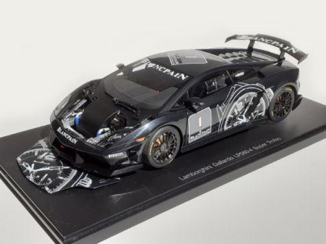 1:18 AUTOart Lamborghini Gallardo LP560-4 Super Trofeo Black/BLANCPAIN #1 *GB*
