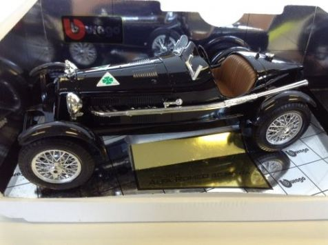 PRELOVED 1:18 Burago - 1931 Alfa Romeo 8c Monza - Black