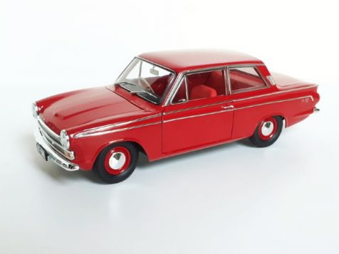 1:18 Classic Carlectables 1965 Ford Cortina GT 500 in Satin Red