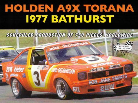 1:18 Classic Carlectables 1977 Holden LX Torana A9X #3 Jane/Geoghegan Hardie-Ferodo Bathurst 1000