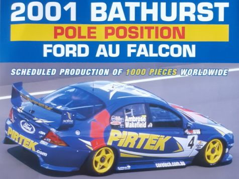 PREORDER 1:18 Classic Carlectables 2001 Ford AU Falcon #4 Ambrose/Wakefield 18755