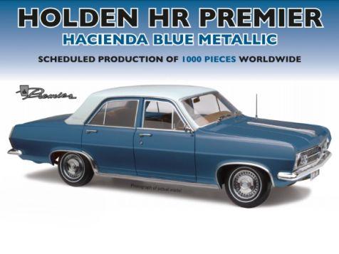 PREORDER 1:18 Classic Carlectables Holden HR Premier in Hacienda Blue Metallic