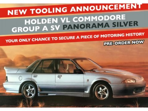 PREORDER 1:18 Classic Carlectables Holden VL Commodore Group A SV in Panorama Silver