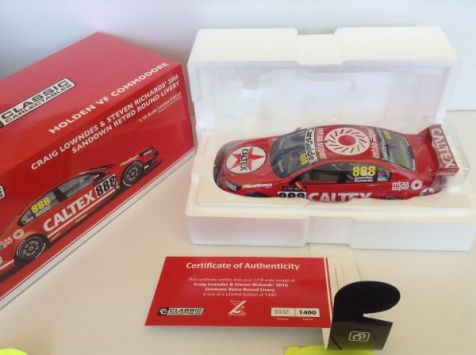 PRE-ORDER Classic Carlectables Craig Lowndes/Steven Richards 2016 Holden Commodore #888 in Sandown Retro Round Livery