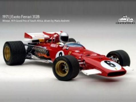 1:18 Exoto Grand Prix Classics - 1970-71 Exoto Ferrari 312B - #6 Red - Mario Andretti - GPC97061