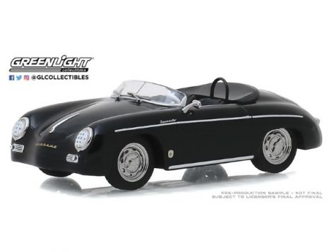 1:43 Greenlight 1958 Porsche 356 Speedster Super Black 86539