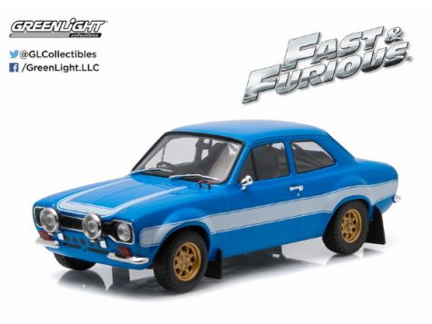 1:18 Greenlight Artisan Collection: Fast and Furious -Brian's 1974 Ford Escort RS2000 MK1 - Fast and Furious 6 diecast model