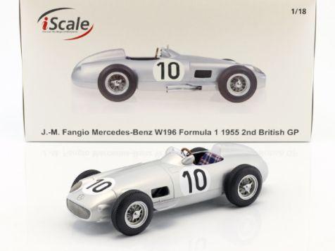 1:18 iScale 1955 Mercedes-Benz W196 #8 J.M. Fangio Dutch GP Winner