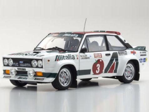 1:18 Kyosho 1978 1000 Lakes Rally Fiat 131 Abarth Rally # 3 Alen/Kivimak