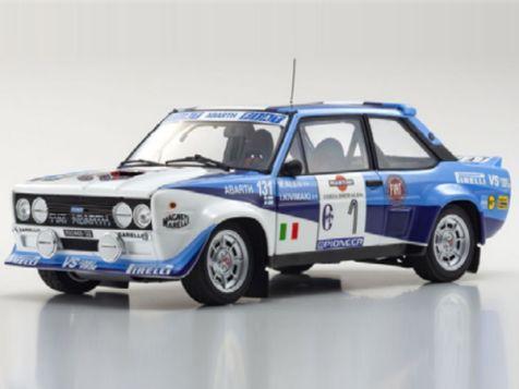 1:18 Kyosho 1981 Costa Smeralda Rally Fiat 131 Abarth Rally #1 Alen/Kivimaki