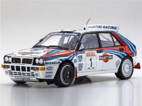 1:18 Kyosho 1992 Sanremo Rally Lancia Delta HF Integrale #1 Kankkunen/Piironen