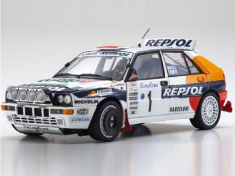 1:18 Kyosho 1993 Monte Carlo Lancia Delta HF Integrale #1 Sainz/Moya