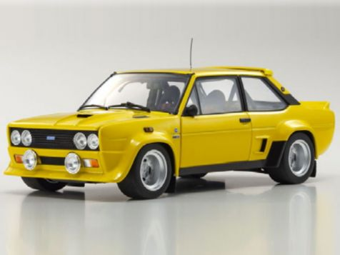 1:18 Kyosho Fiat 131 Abarth in Yellow