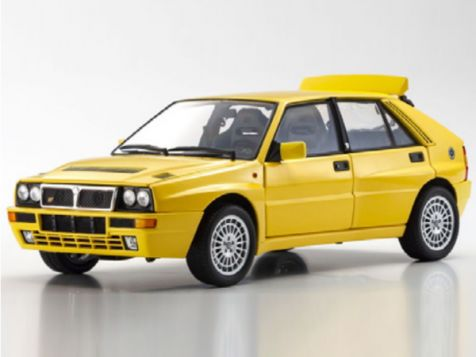 1:18 Kyosho Lancia Delta HF Integrale in Yellow