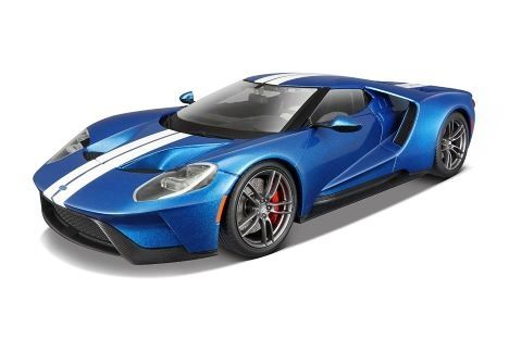 1:18 Maisto Exclusive - 2017 Ford GT - Metallic Blue with White Stripes