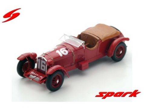 1:18 Spark Model 1931 24H Le Mans Winner Alfa Romeo 8c #16 Howe/Birkin 18LM31