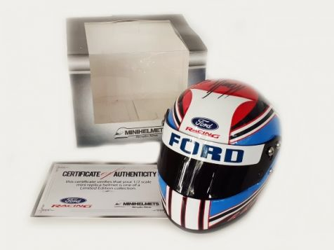 1:2 Minihelmet 2013 Ford Racing Helmet Hand Signed by Marcos Ambrose MH201303