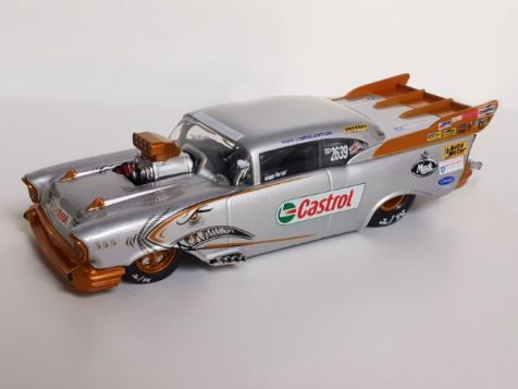 1:24 Classic Carlectables Ben Bray's '02-'03 1957 Castrol Chev Top Doorslammer Champion