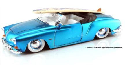 1:24 Jada - V Dub$ - 1959 Volkswagen Karmann Ghia - Convertible - Metallic Blue - Item #53045KGCMB