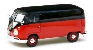 1:24 Motor Max - Volkswagen Type 2 (T1) - Delivery Van in Red and Black
