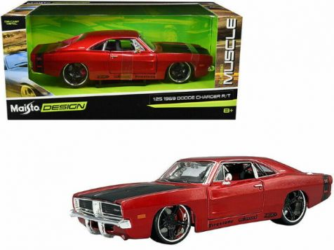 1:24 Maisto 1969 Dodge Charger R/T in Metallic Red