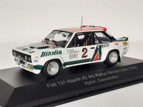 1:43 CMR 1978 Monte Carlo Rallye 4th Fiat 131 Abarth #2 Röhrl/Geistdörfer WRC013