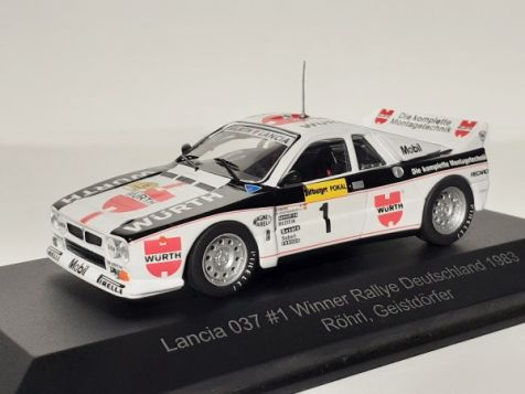 1:43 CMR 1983 Germany Rallye Winner Lancia 037 #1 Röhrl/Geistdörfer WRC011