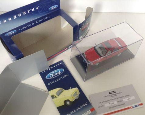 1:43 Corgi Ford Sierra Sapphire GLS Radiant Red VA09900