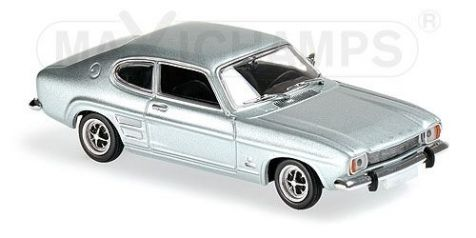 1:43 Maxichamps - 1969 Ford Capri I in Light Blue Metallic - 940 085501
