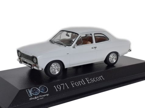 1:43 ford escort mk1 white 100 years