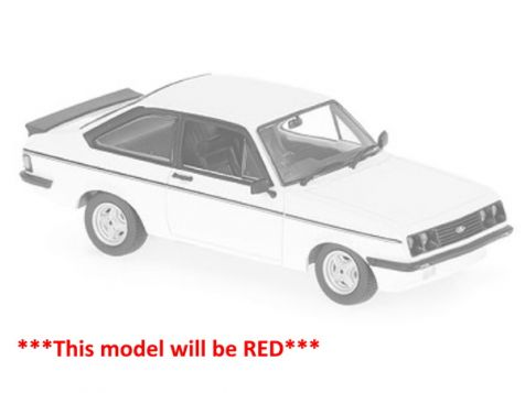 1:43 Maxichamps 1976 Ford Escort Mk II RS2000 in Blue