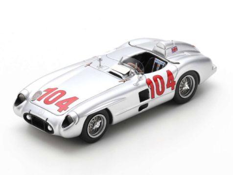 1:43 Spark 1955 Targa Florio Winning Mercedes-Benz 300 SLR #104 Moss/Collins