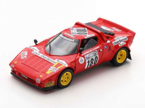 1:43 Spark 1975 Tour de France Automobile Winning Lancia Stratos #180 Darniche/Mahe S9081