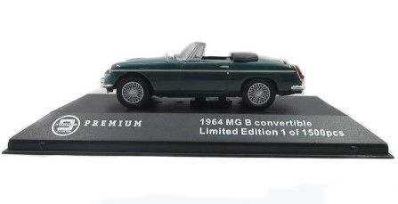 1:43 Triple 9 Collection 1964 MG B Convertible - Green T9P100002