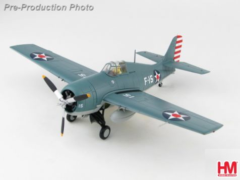 "1:48 Hobby Master Grumman F4F-3 Wildcat ""White F-15"" LCDR Edward H. ""Butch"" O'Hare, VF-3, USS Lexington WWII HA8904"