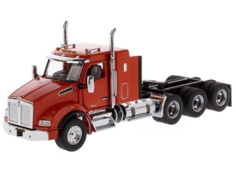 1:50 DM Kenworth T880 Tridem Speed Orange SBFA 40in-Sleeper Tractor