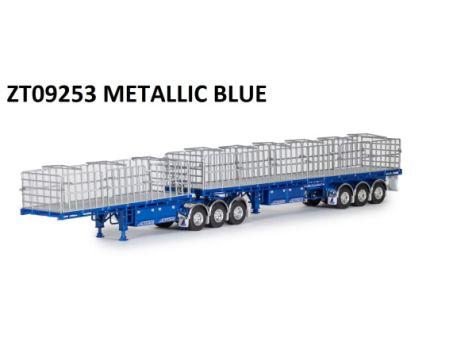 1:50 Drake MaxiTRANS B Double Flat Top in Metallic Blue ZT09253