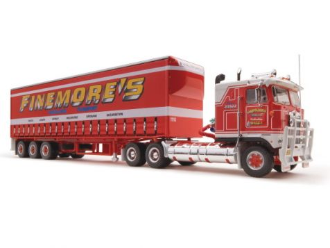 "1:64 Highway Replicas ""Finemore's"" Freight Semi Prime Mover & Trailer"