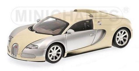 1:18 Minichamps 2009 Bugatti Veyron L'Edition Centenaire Chrome/Beige