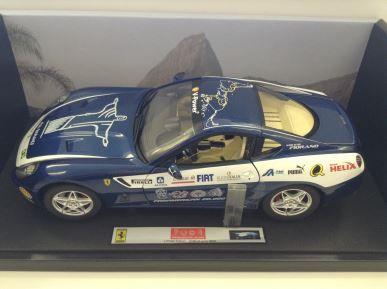 1:18 HotWheels Elite Ferrari 599 GTB Fiorano in Blue - Panamerican 20,000 - L7125