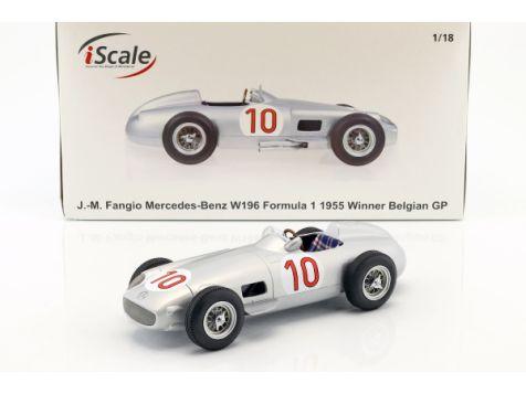 1:18 iScale 1955 Mercedes-Benz W196 #10 J.M. Fangio Belgian GP Winner