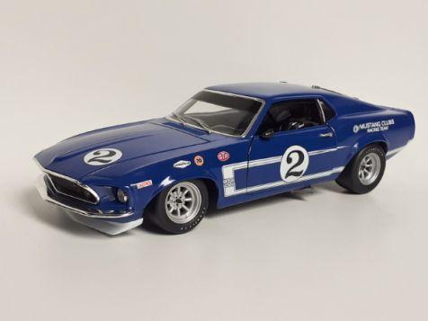 1:18 Welly 1969 Dan Gurney #2 Trans-Am Ford Mustang Boss 302 *SG*
