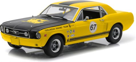 1:18 Greenlight Collectibles 1967 Terlingua Continuation Mustang #67 Jerry Titus & Ken Miles - Racing Tribute Edition 12934