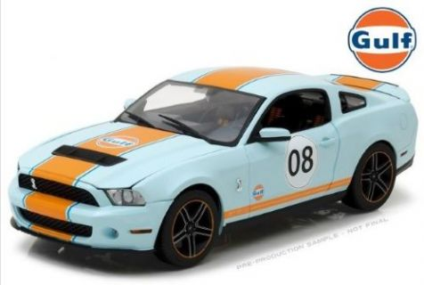 1:18 Greenlight 2012 Ford Shelby GT500 Gulf Oil Livery 12990